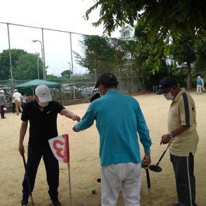 老人クラブのグランドゴルフ大会