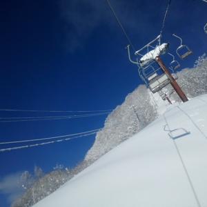 スキー   in   流葉スキー場