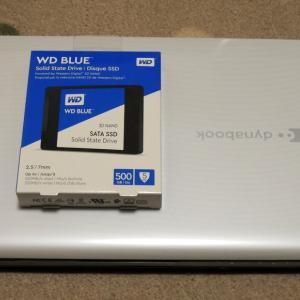 HDDをSSDに換装!
