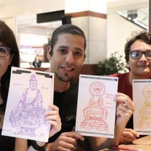 上野の寺社巡りと写仏
