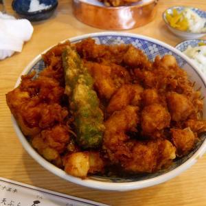 【台東区】浅草にある行列の出来る天ぷらの天藤で具材たっぷりの絶品かき揚げ丼でランチ