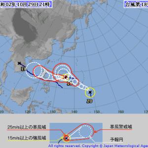 台風20号2020の進路予想を米国/気象庁/ヨーロッパ予報を調査!沖縄/九州/日本列島上陸はあるかまとめ