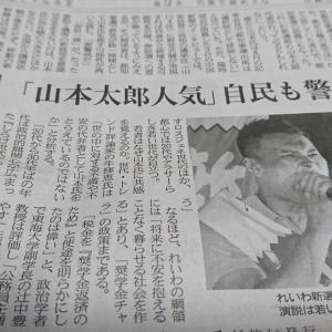 今朝の日経から1年12月15日 山本太郎はなぜ人気があるのか 経済情勢】