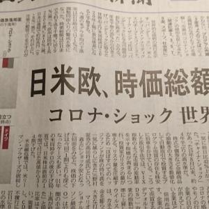 今朝の日経から2年2月29日 未だ暴落とは言えない【経済情勢】