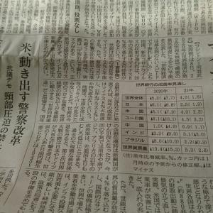 今朝の日経から2年6月9日 リーマン危機より落ち込む世界【経済情勢】