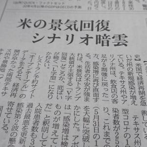 今朝の日経から2年6月13日 米、景気回復への憂鬱【経済情勢】