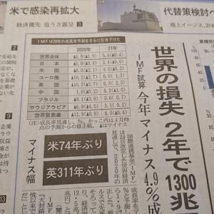 今朝の日経から2年6月25日 コロナの世界損失、下方修正【経済情勢】