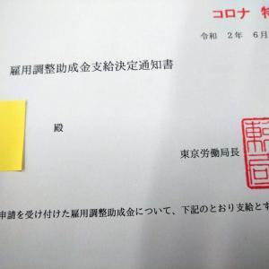 雇用調整助成金2回目が振り込まれる「205万円!」
