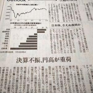 今朝の日経から2年8月2日 感染拡大と円高と決算と【株式・投信・マーケット】