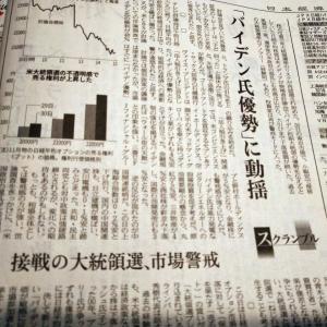 今朝の日経から2年10月1日 バイデン優勢で売り【株式・投信・マーケット】