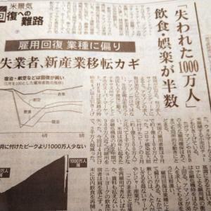 今朝の日経から2年10月23日 米サービス業の苦境【経済情勢】