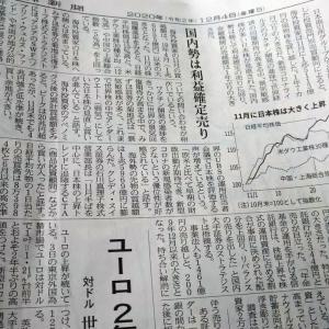今朝の日経から2年12月4日 海外投資家の買いが続く【株式・投信・マーケット】