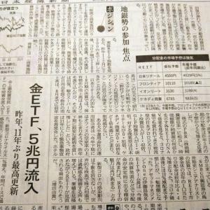 今朝の日経から3年1月16日 リートが戻ってきている【株式・投信・マーケット】
