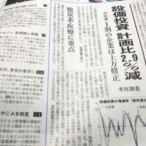 今朝の日経から3年1月25日 投資しなければ経済は回らず【株式・投信・マーケット】