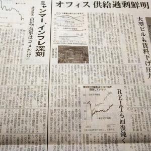 今朝の日経から3年4月11日 リート、値は戻らず【経済情勢】