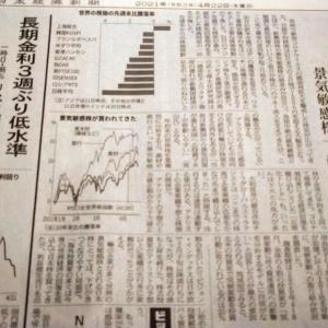 今朝の日経から3年4月22日 世界で株価下落【株式・投信・マーケット】