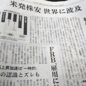 今朝の日経から3年5月14日 世界同時!株安【株式・投信・マーケット】