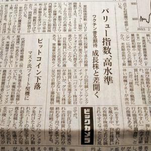 今朝の日経から3年6月5日 割安株が良い調子【株式・投信・マーケット】