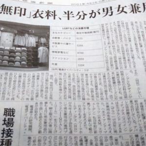 今朝の日経から3年6月7日 無印良品が男女兼用化へ【経済情勢】