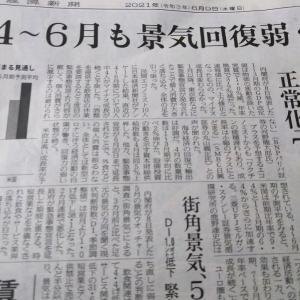 今朝の日経から3年6月9日 景気回復は夏から、だそう 【経済情勢】
