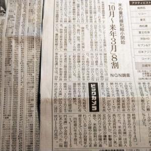今朝の日経から3年6月19日 量的緩和の縮小も重荷か【株式・投信・マーケット】