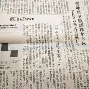 今朝の日経から3年6月19日 金や景気敏感株はなぜ売られたか【経済情勢】