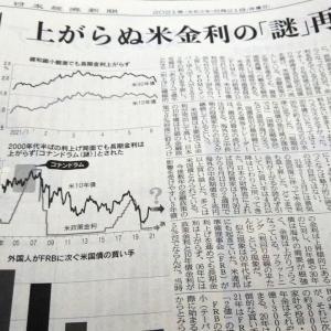 今朝の日経から3年6月21日 米国債をFRBと海外が買う【経済情勢】