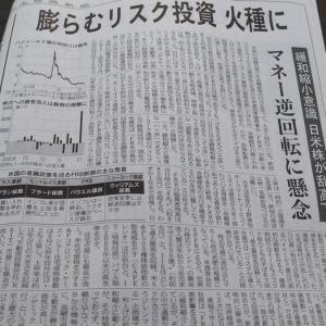 今朝の日経から3年6月23日 金融政策の軟着陸はできるのか【経済情勢】