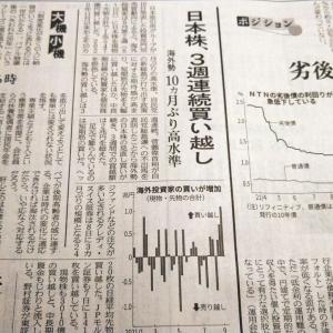 今朝の日経から3年9月17日 海外勢の買いと個人の売り【株式・投信・マーケット】