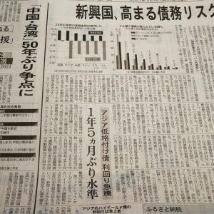今朝の日経から3年9月25日 懸念される新興国経済【経済情勢】