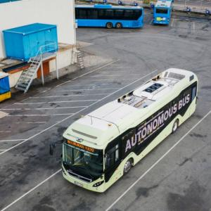 Volvo's prototype autonomous bus drives itself round depots