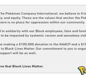 ポケモン公式が黒人支援団体に20万ドルの寄付を発表