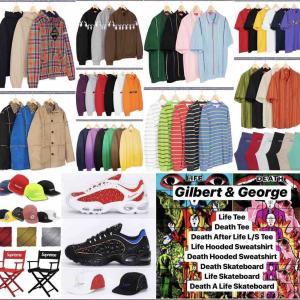 【3月23日発売】Supreme 2019SS Week4 Supreme×Nike/Supreme×Gilbert&George