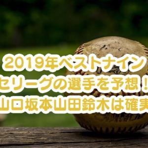 2019年のベストナイン・セリーグの選手を予想!山口・坂本・山田・鈴木は確実!