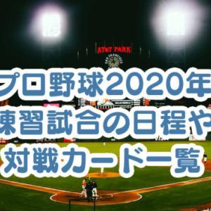 プロ野球2020年の練習試合の日程や対戦カード一覧。開幕までの試合をチェック!