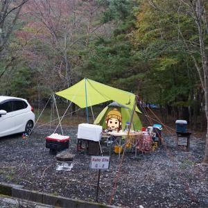 精進湖近くのキャンプ場CAMP AKAIKEの2018年営業最終日に滑りこんできました!-前編