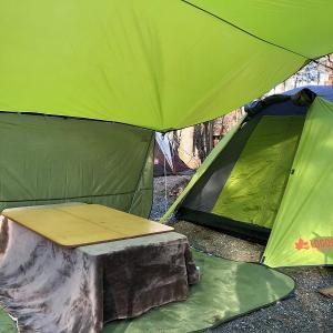 冬のキャンプはエントリーモデルのテントでも電源サイト+ホットカーペットがあればなんとかなります♪/べるが尾白の森キャンプ場