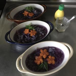 あじさいスープ(レシピではなく、実験です)