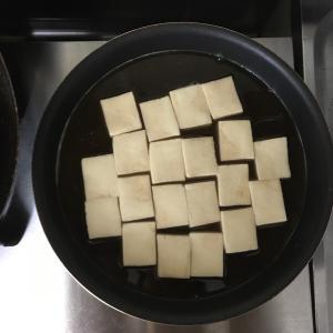お料理4年生の試行錯誤(高野豆腐をカッコよく仕上げたい!)