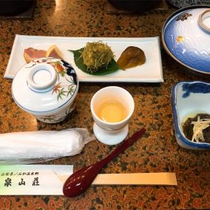 泉山荘の夕食。