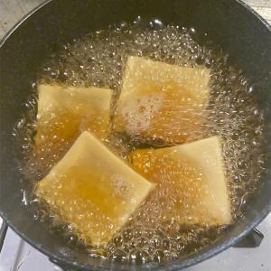 高野豆腐を炊き上げてみました。