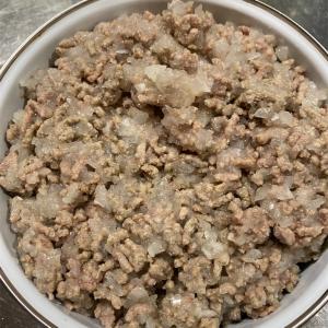 ひき肉の塩そぼろを作りました。