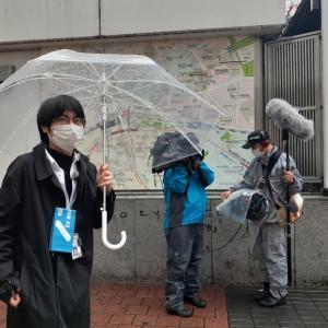 インタビュー断りました。雨の渋谷