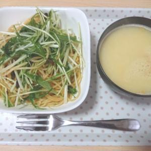 【自炊】水菜のペペロンチーノ
