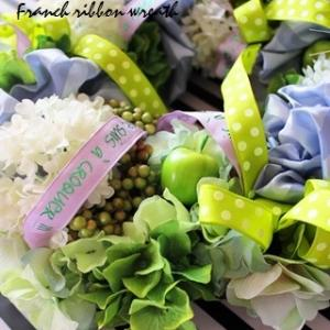 French ribbon wreath.