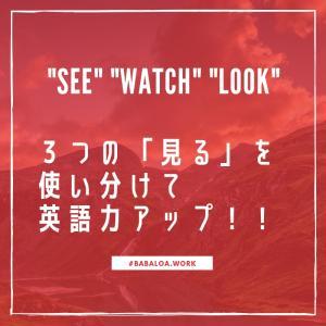 【英語】see , watch , look の違いってなに?コアイメージを理解して使い分けよう!【同じ「見る」でも異なります】