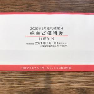 【2702】日本マクドナルドホールディングスの優待到着♪(2020年6月末権利)