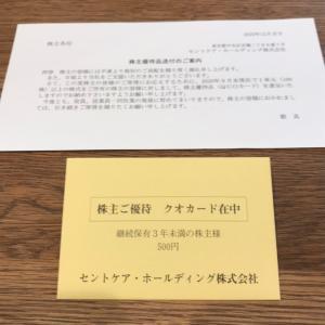 【2374】セントケアホールディングスから優待到着♪(2020年9月末権利)