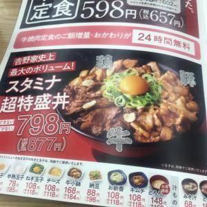 【9861】吉野家で夕飯食べました♪夏みかんのお祭り。