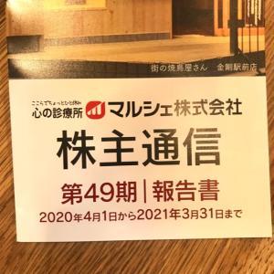 【7524】マルシェから株主優待割引券(2021年3月末?)牛トロフレーク美味しかったよ~!